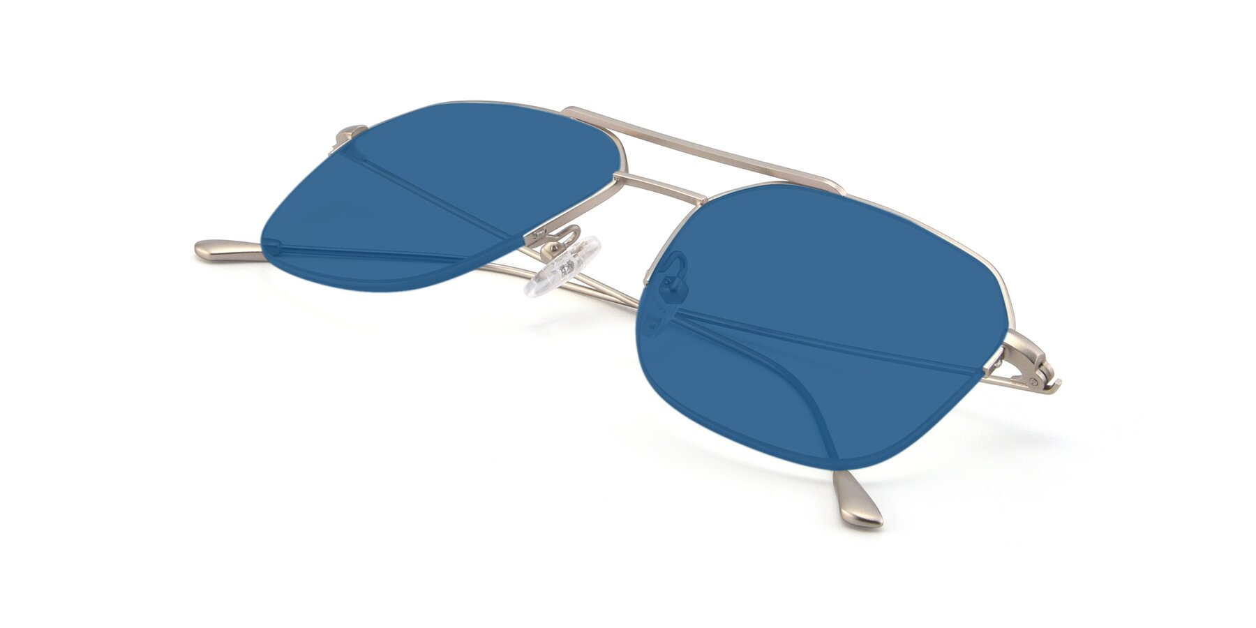 View of 9434 in Silver with Blue Tinted Lenses