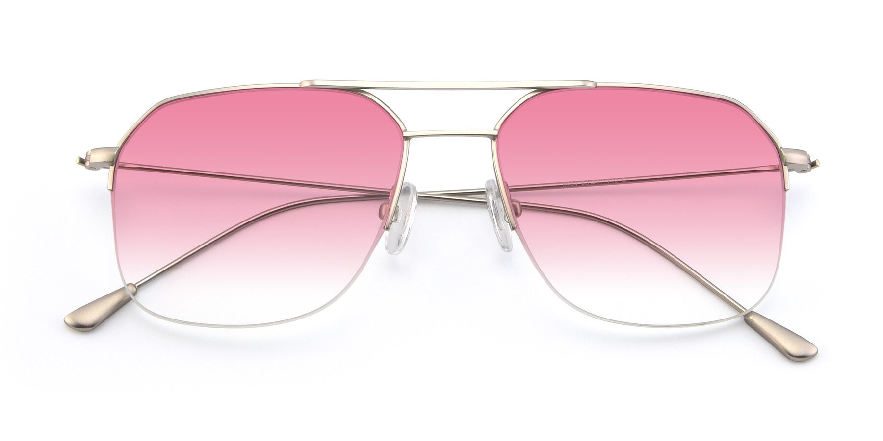 Folded Front of 9434 in Silver with Pink Gradient Lenses