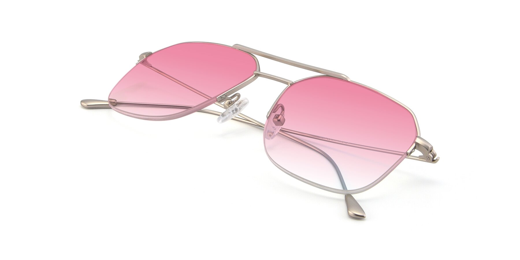 View of 9434 in Silver with Pink Gradient Lenses