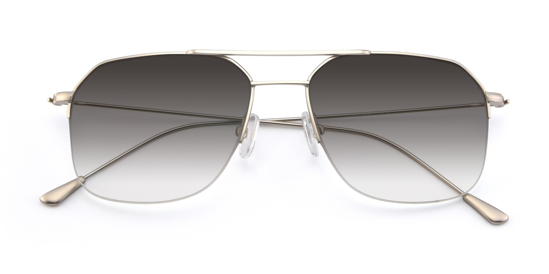 Folded Front of 9434 in Silver with Gray Gradient Lenses
