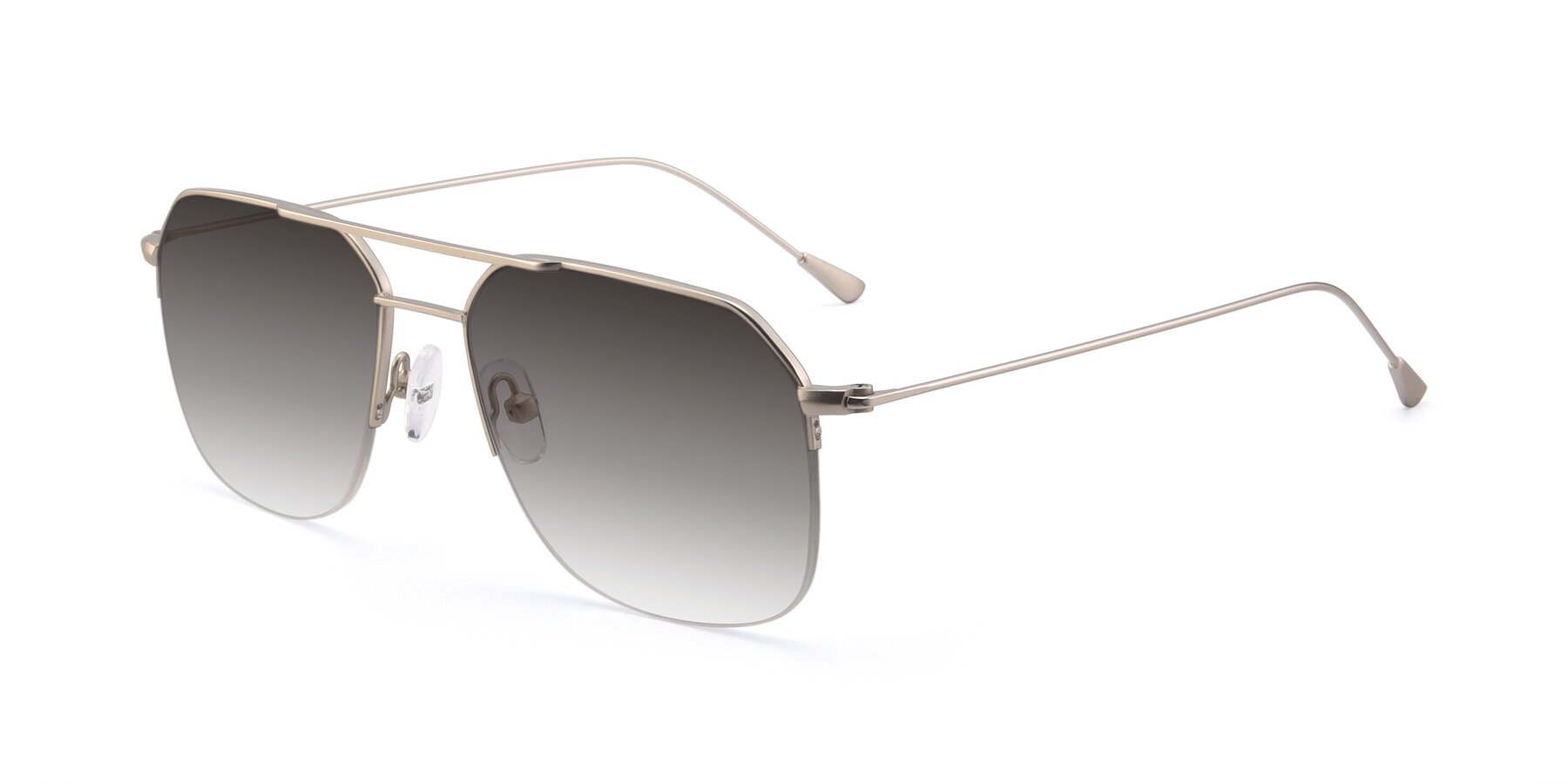 Angle of 9434 in Silver with Gray Gradient Lenses