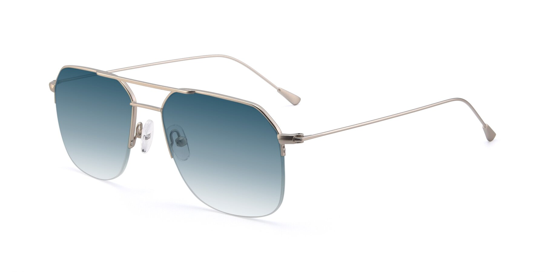 Angle of 9434 in Silver with Blue Gradient Lenses