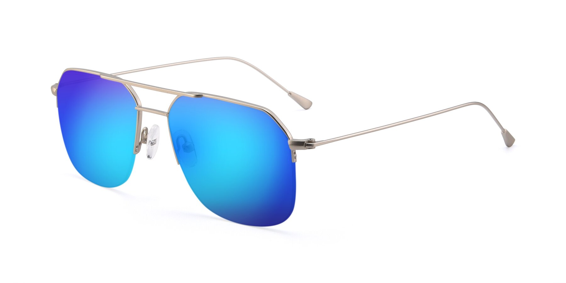 Angle of 9434 in Silver with Blue Mirrored Lenses