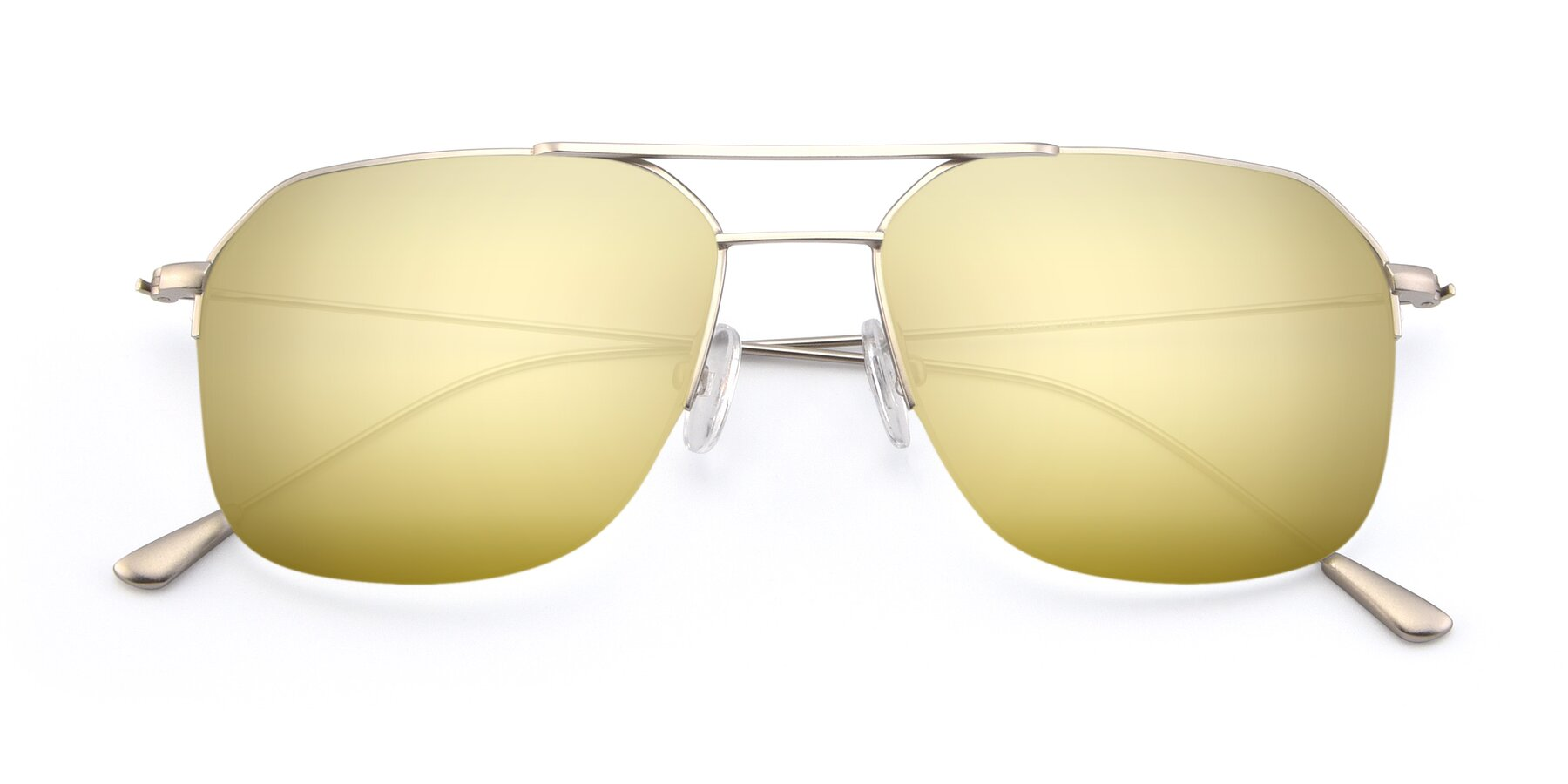 Folded Front of 9434 in Silver with Gold Mirrored Lenses