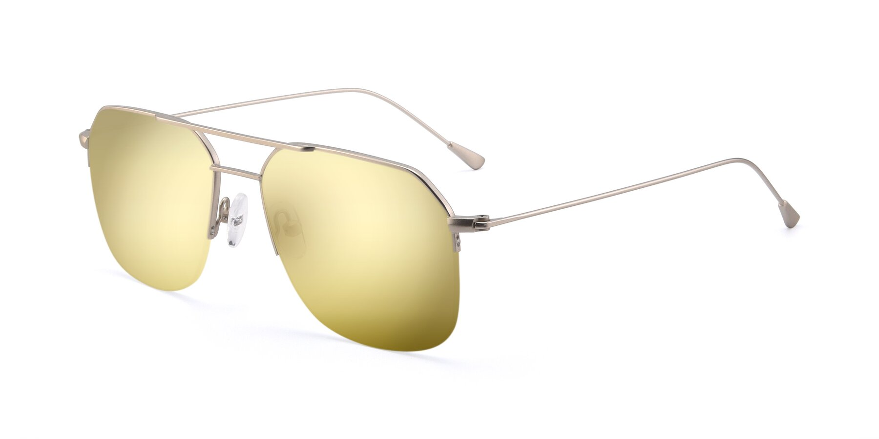 Angle of 9434 in Silver with Gold Mirrored Lenses
