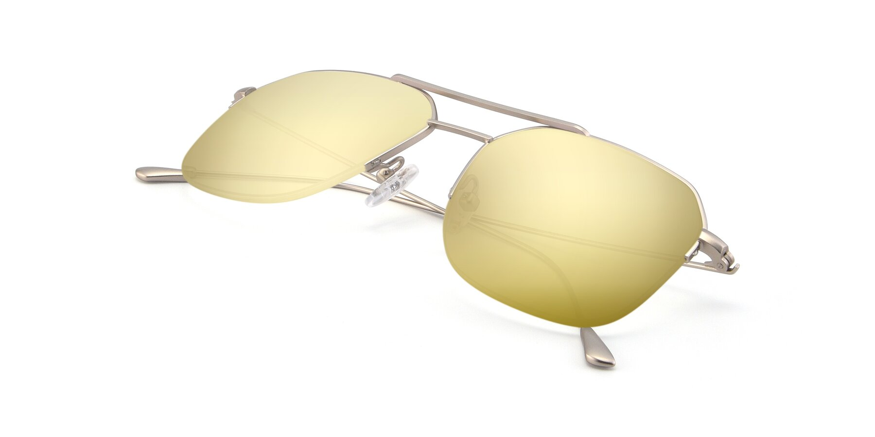 View of 9434 in Silver with Gold Mirrored Lenses