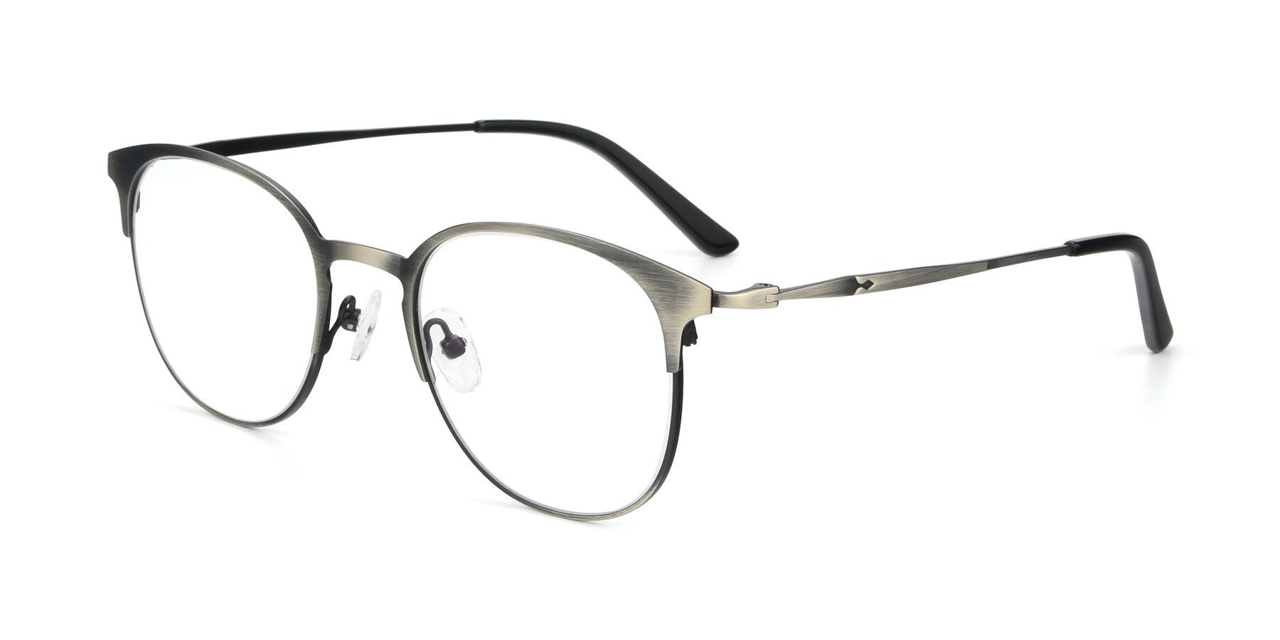 Angle of 9547 in Antique Gun with Clear Blue Light Blocking Lenses