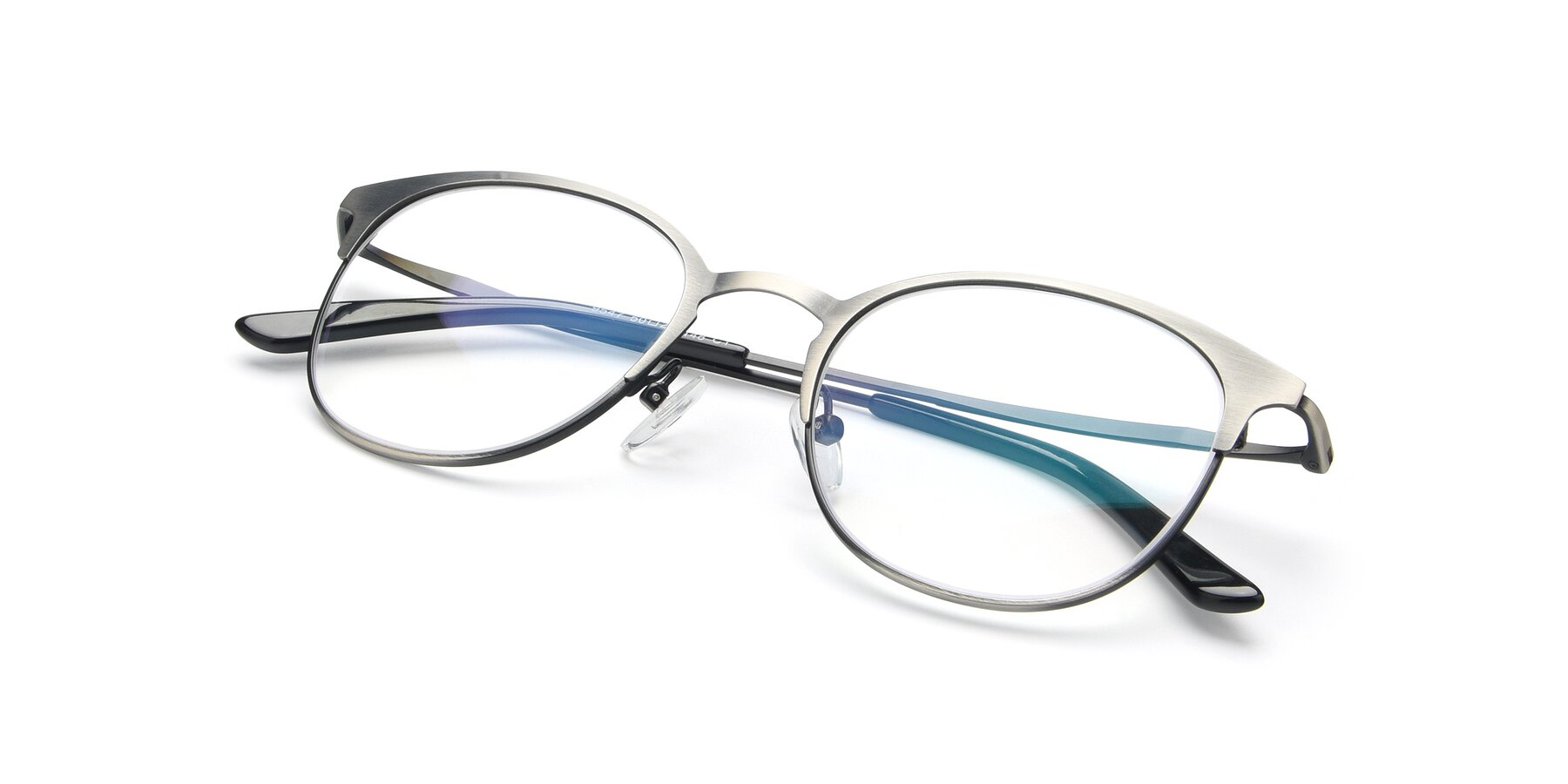 View of 9547 in Antique Gun with Clear Blue Light Blocking Lenses