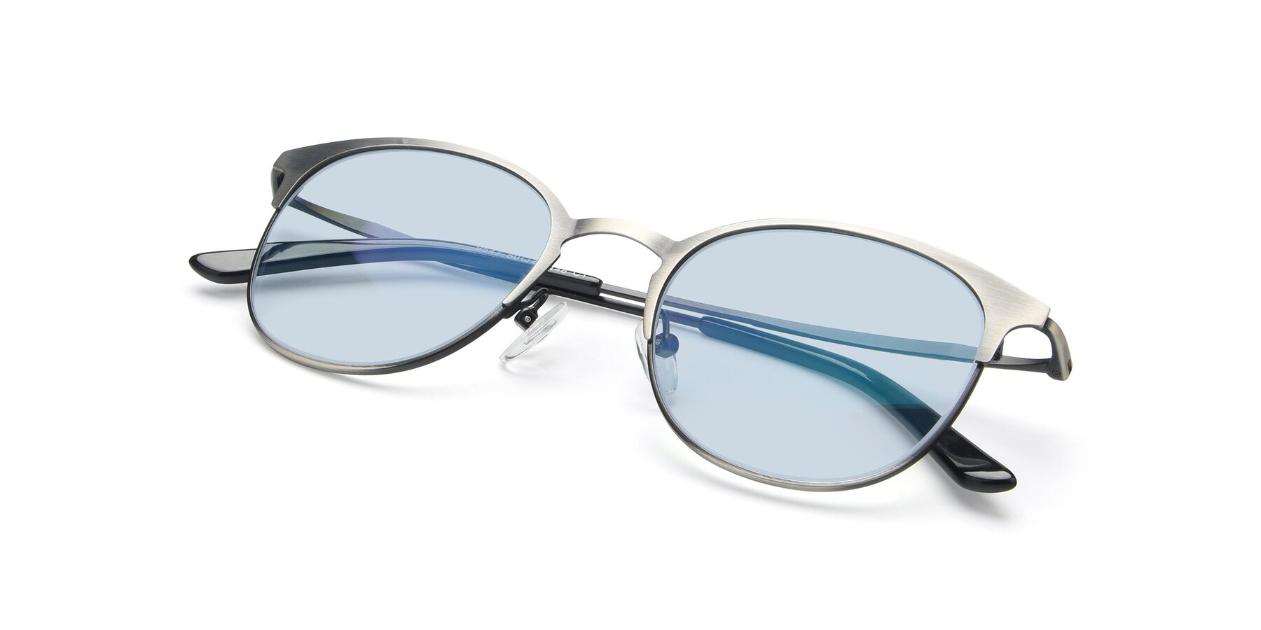 View of 9547 in Antique Gun with Light Blue Tinted Lenses