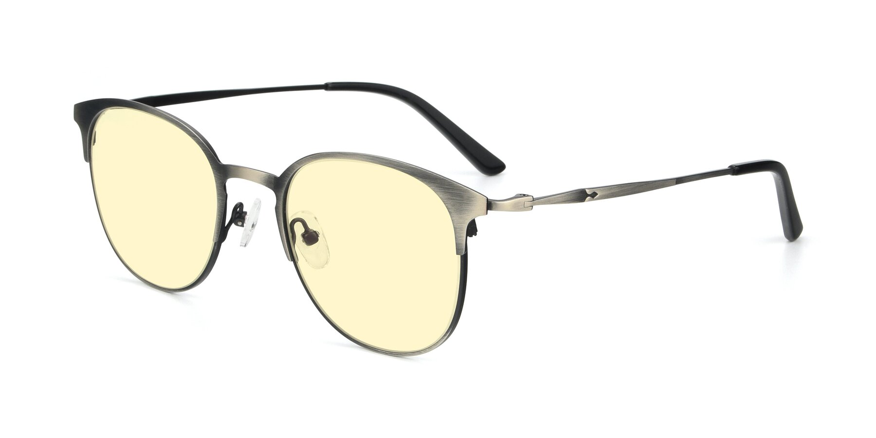 Angle of 9547 in Antique Gun with Light Yellow Tinted Lenses