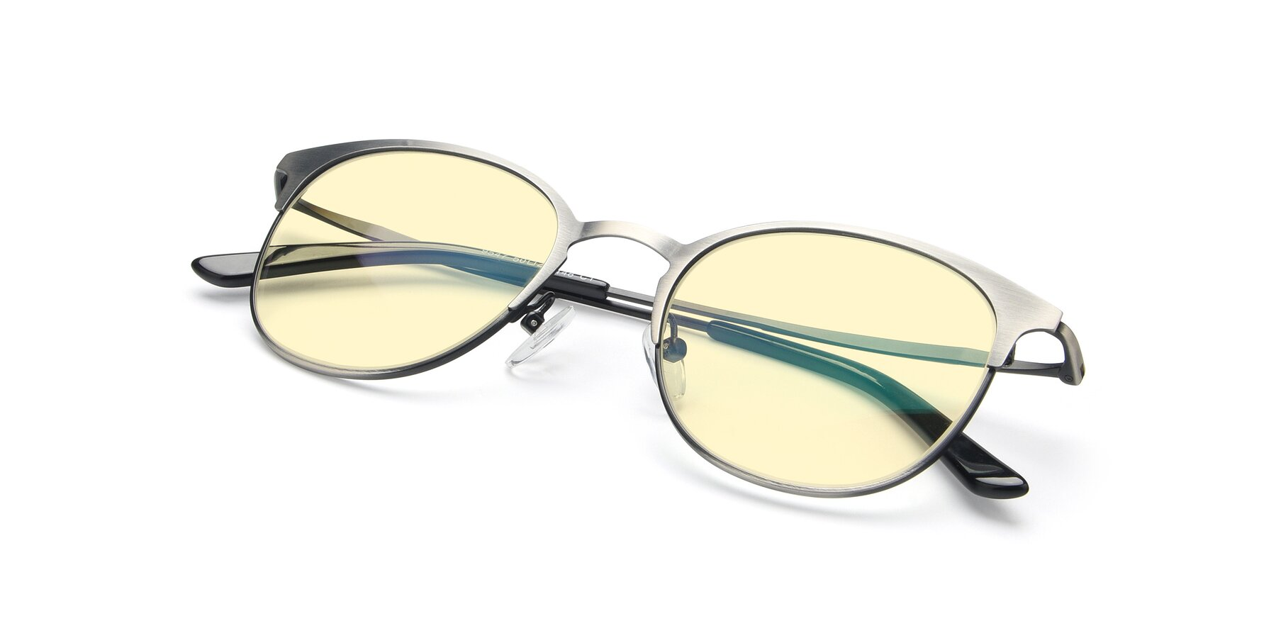View of 9547 in Antique Gun with Light Yellow Tinted Lenses