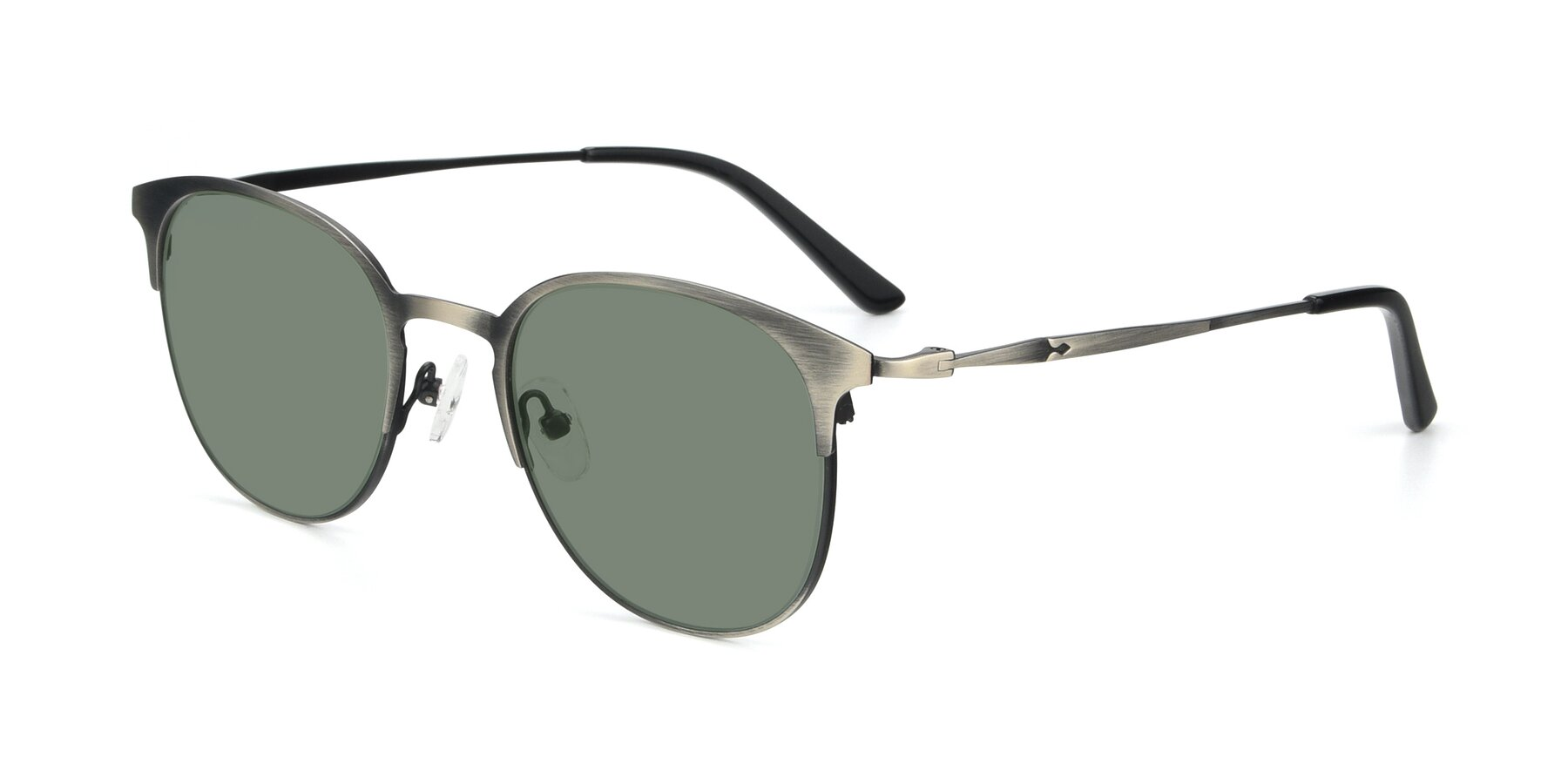 Angle of 9547 in Antique Gun with Medium Green Tinted Lenses