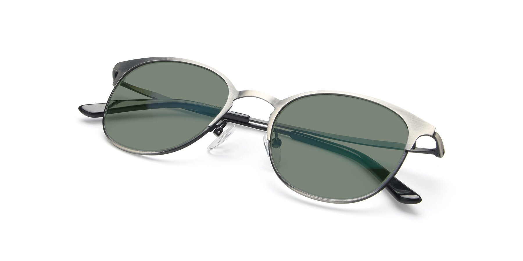 View of 9547 in Antique Gun with Medium Green Tinted Lenses