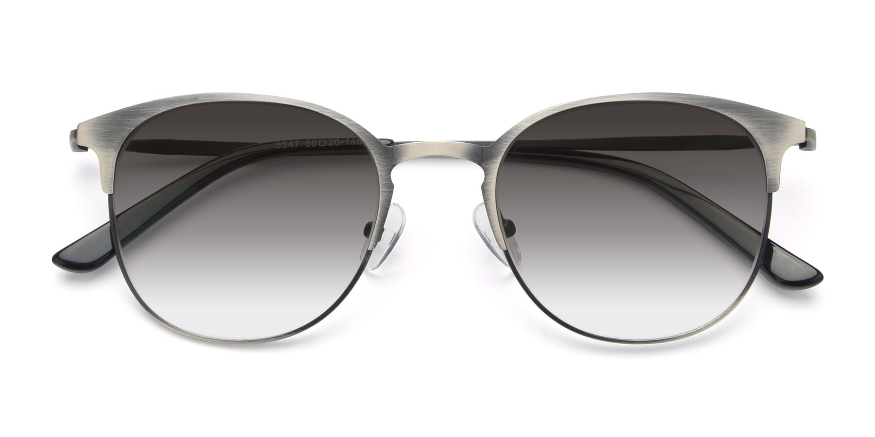 Folded Front of 9547 in Antique Gun with Gray Gradient Lenses