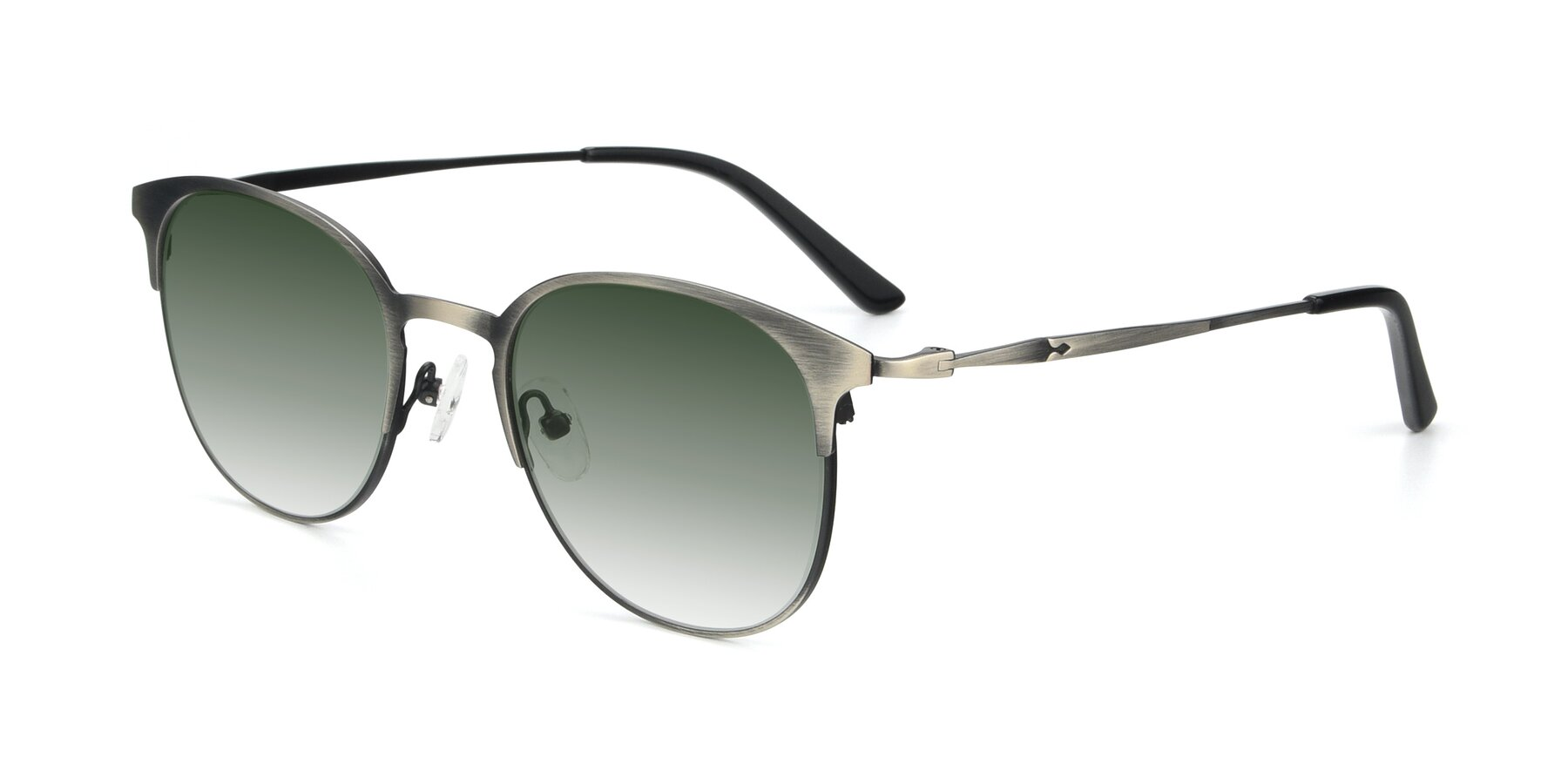Angle of 9547 in Antique Gun with Green Gradient Lenses