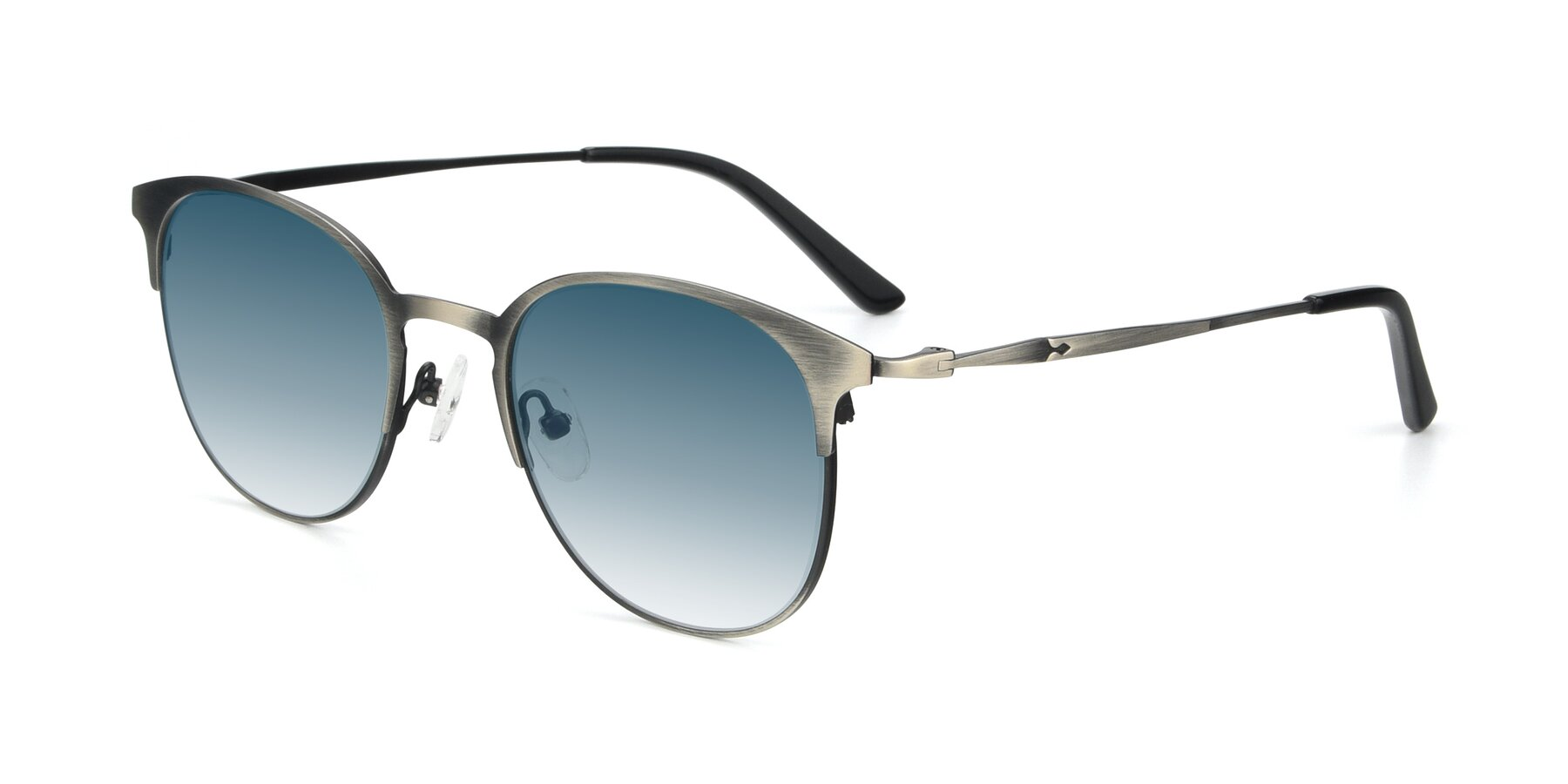 Angle of 9547 in Antique Gun with Blue Gradient Lenses
