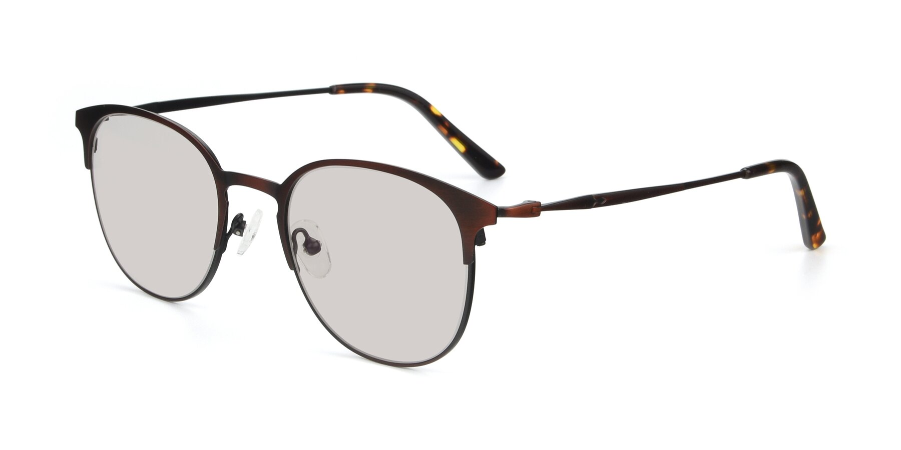 Angle of 9547 in Antique Brown with Light Brown Tinted Lenses