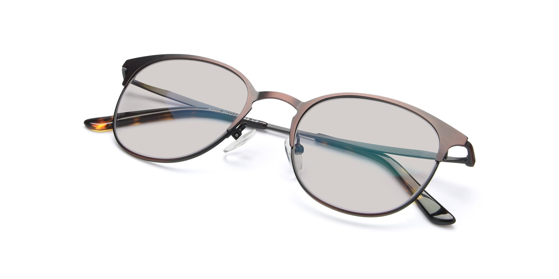 View of 9547 in Antique Brown with Light Brown Tinted Lenses