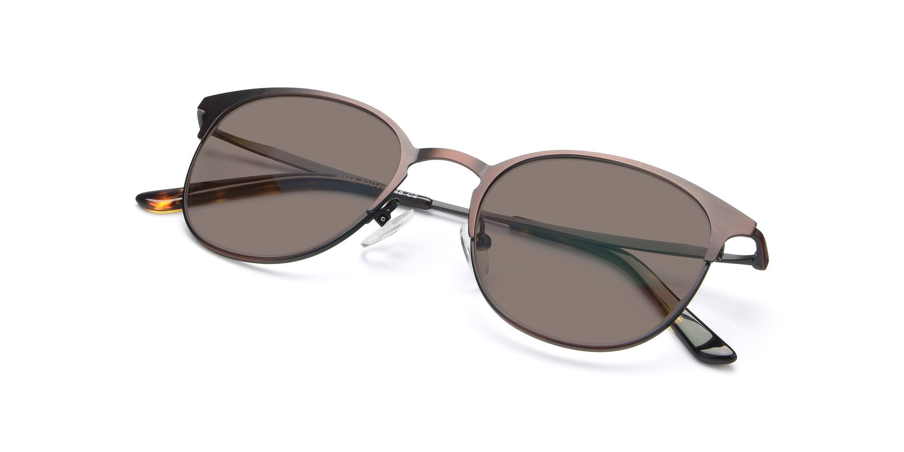 View of 9547 in Antique Brown with Medium Brown Tinted Lenses