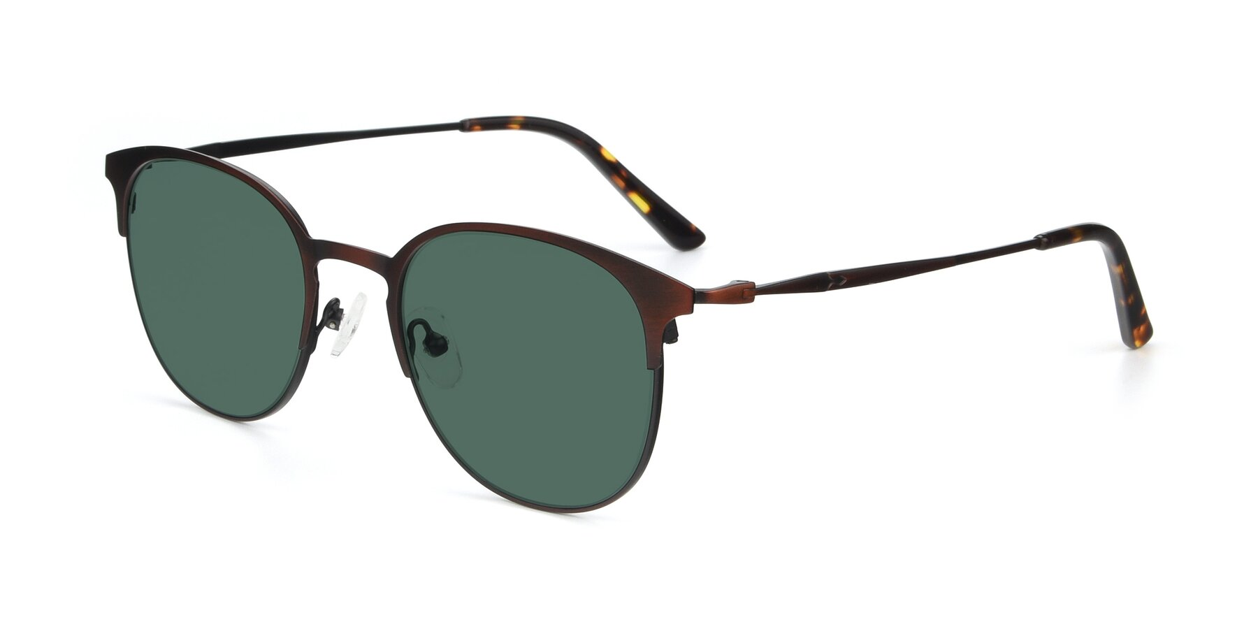 Angle of 9547 in Antique Brown with Green Polarized Lenses