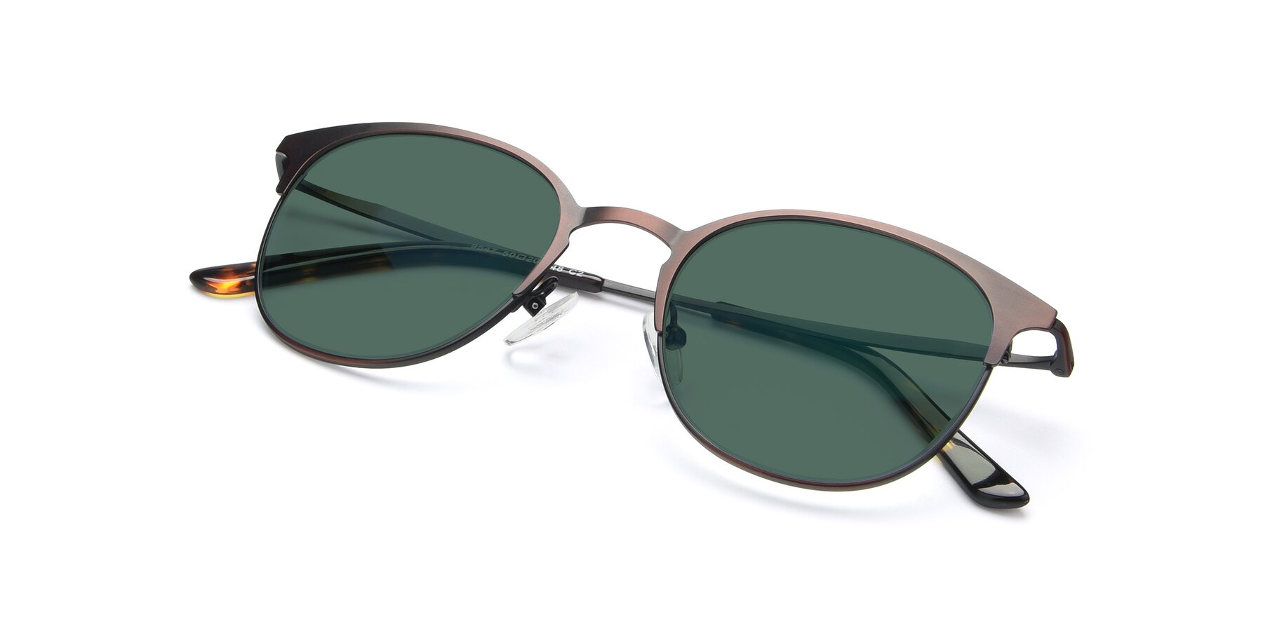 View of 9547 in Antique Brown with Green Polarized Lenses