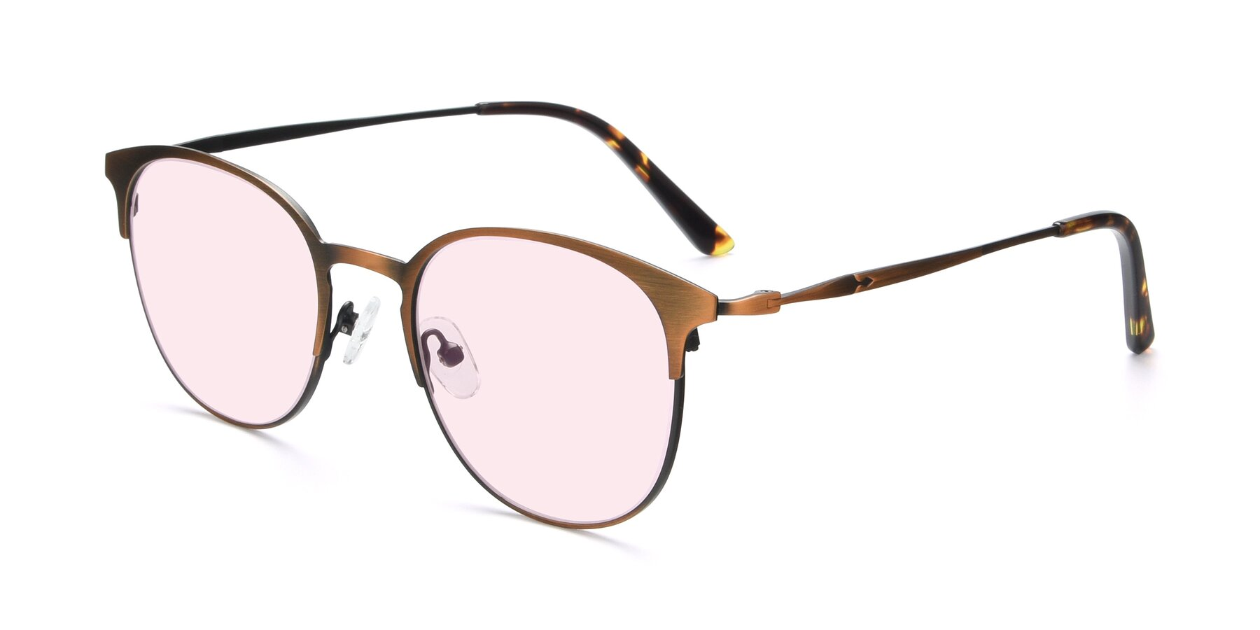 Angle of 9547 in Antique Bronze with Light Pink Tinted Lenses
