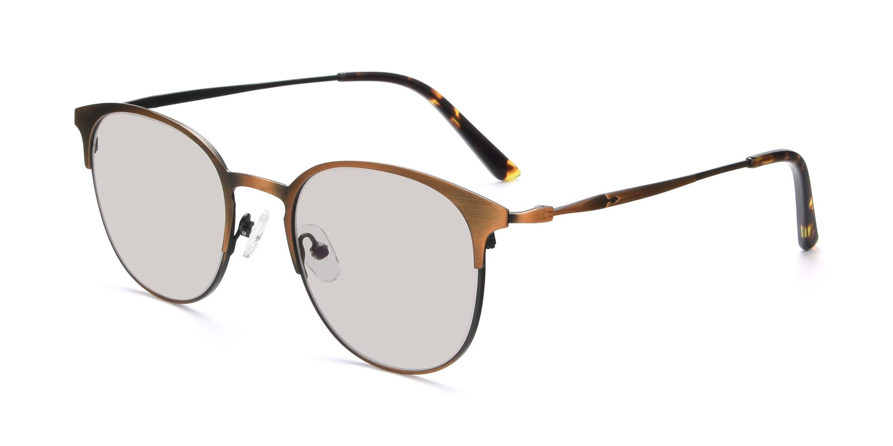 Angle of 9547 in Antique Bronze with Light Brown Tinted Lenses