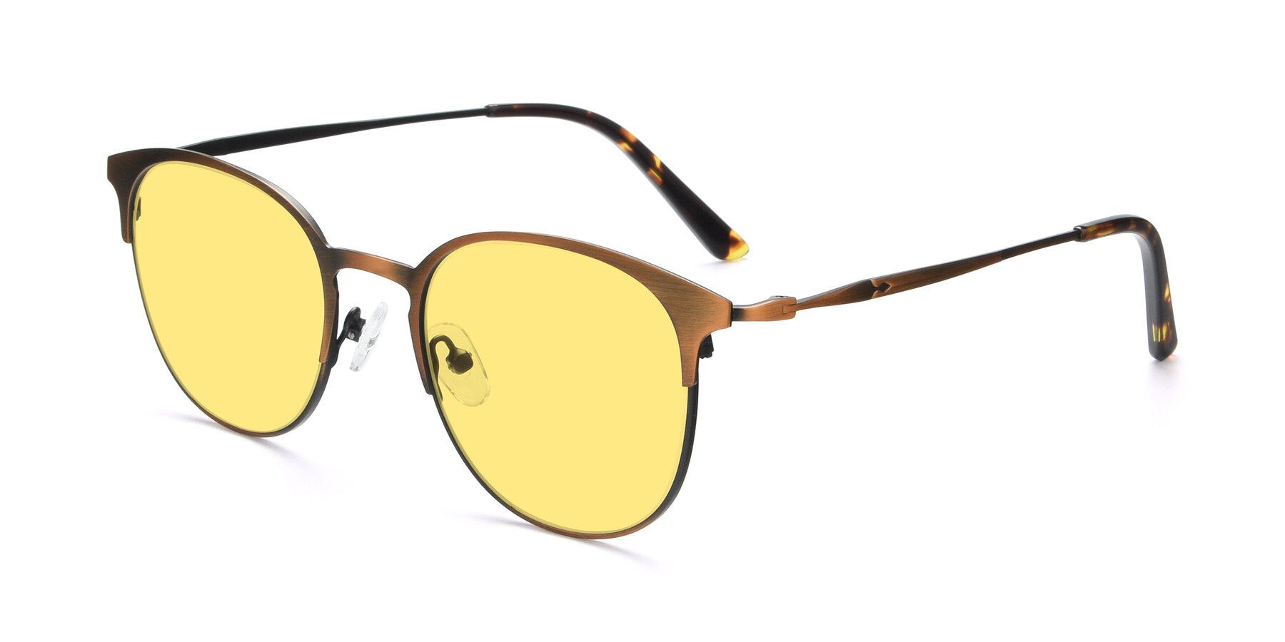 Angle of 9547 in Antique Bronze with Medium Yellow Tinted Lenses