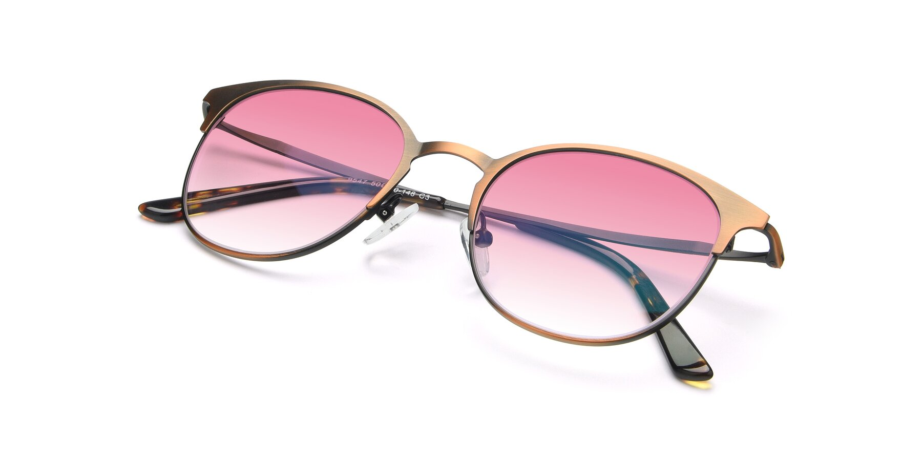 View of 9547 in Antique Bronze with Pink Gradient Lenses