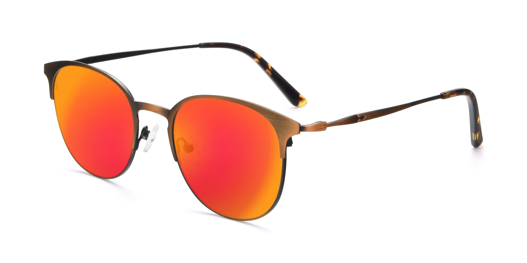 Angle of 9547 in Antique Bronze with Red Gold Mirrored Lenses