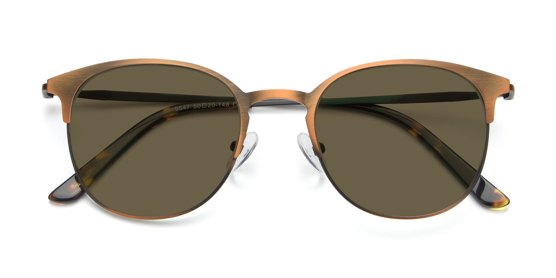 Folded Front of 9547 in Antique Bronze with Brown Polarized Lenses