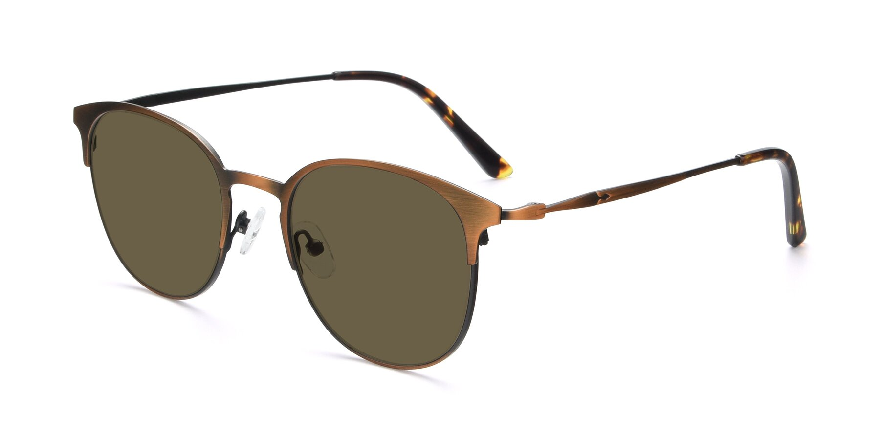 Angle of 9547 in Antique Bronze with Brown Polarized Lenses