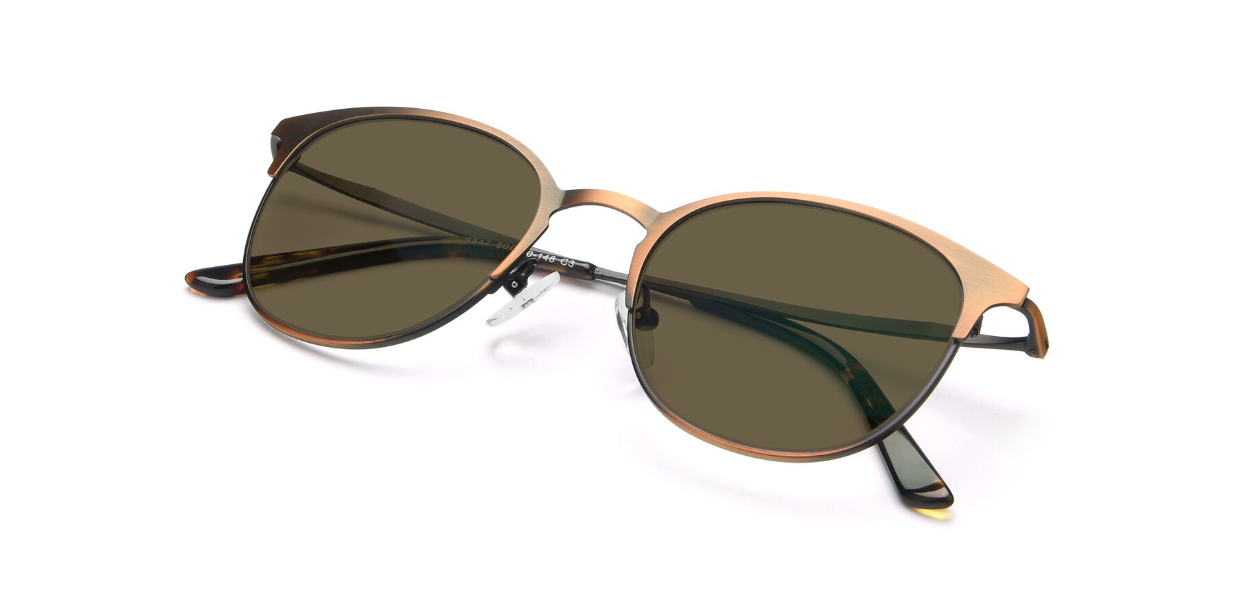 View of 9547 in Antique Bronze with Brown Polarized Lenses