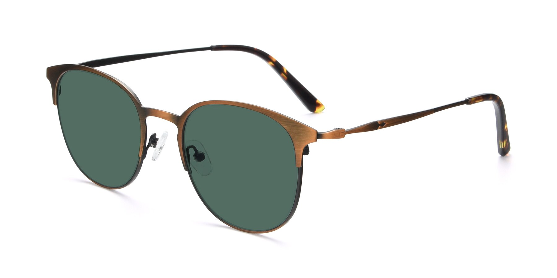 Angle of 9547 in Antique Bronze with Green Polarized Lenses