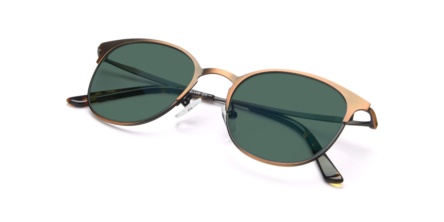 View of 9547 in Antique Bronze with Green Polarized Lenses