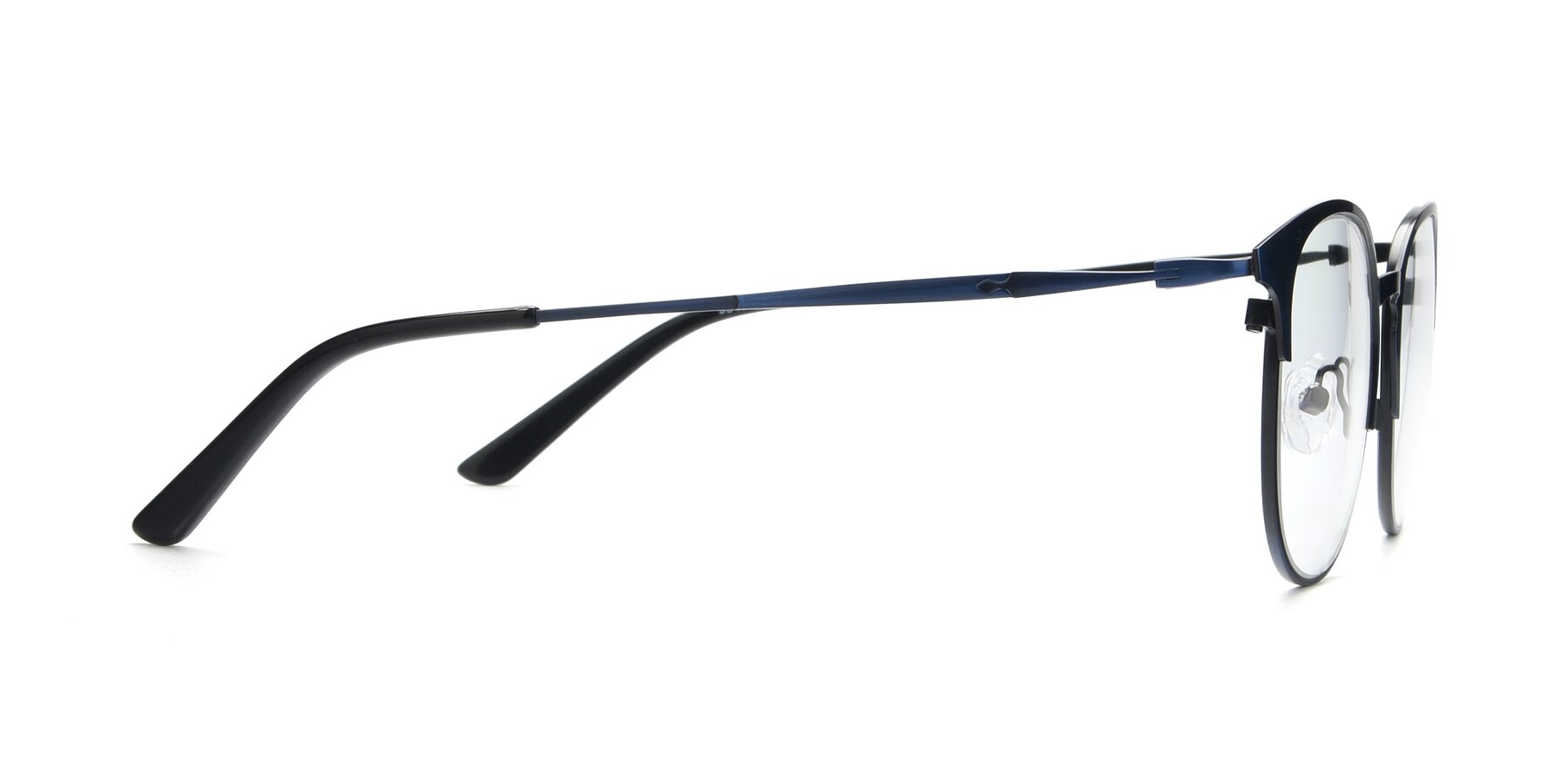 Side of 9547 in Antique Blue with Clear Eyeglass Lenses