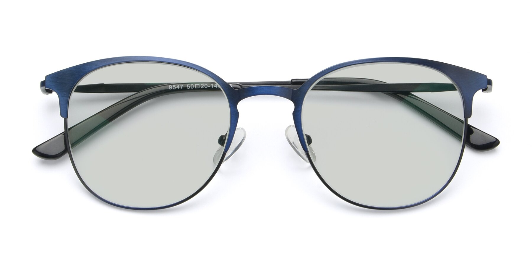 Folded Front of 9547 in Antique Blue with Light Green Tinted Lenses