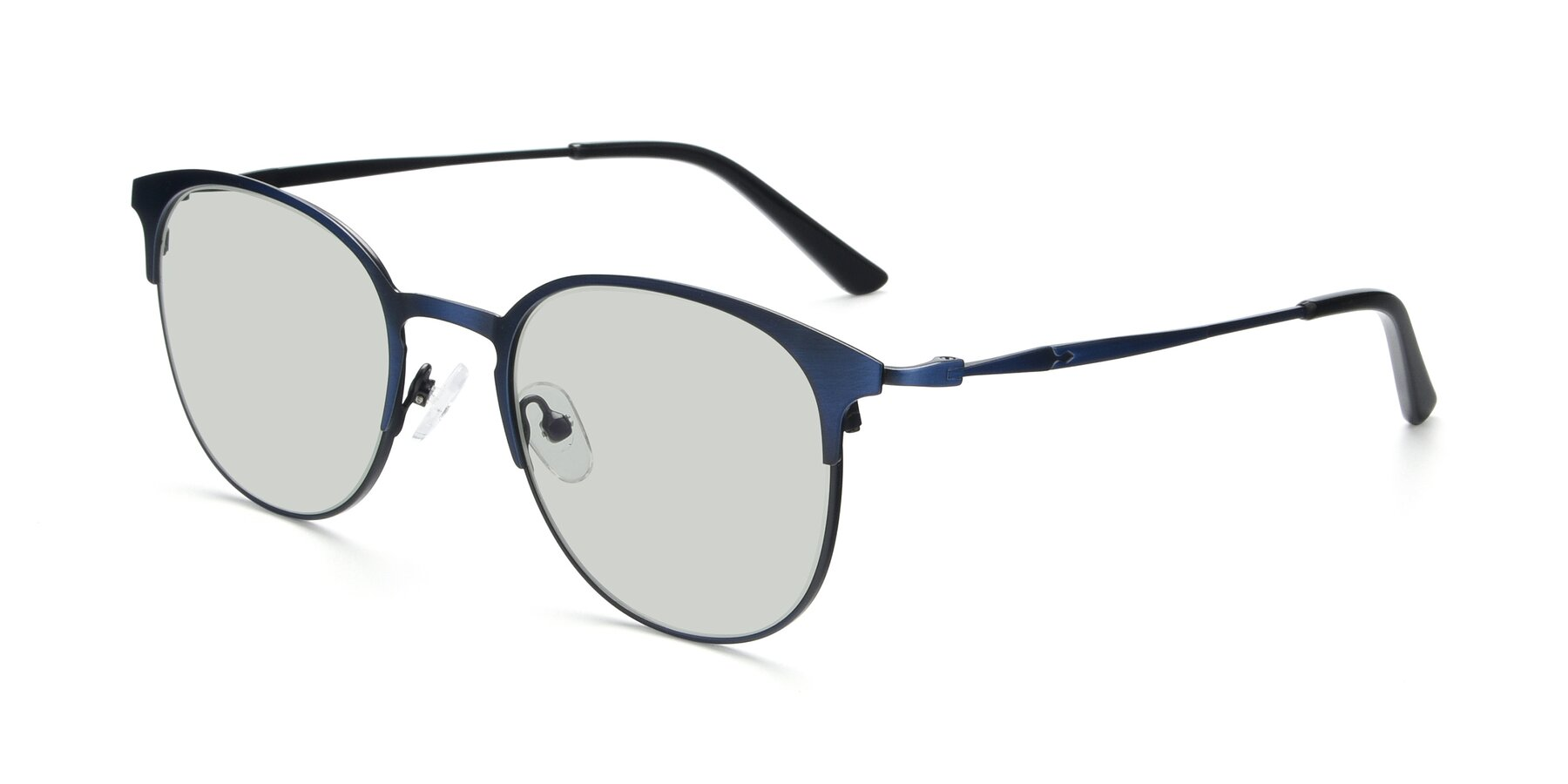 Angle of 9547 in Antique Blue with Light Green Tinted Lenses