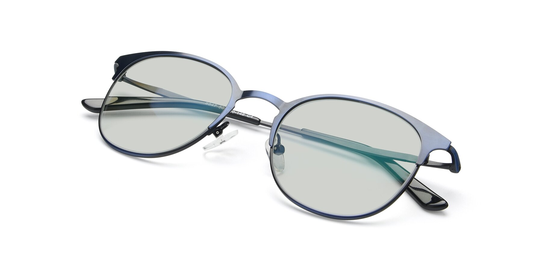View of 9547 in Antique Blue with Light Green Tinted Lenses