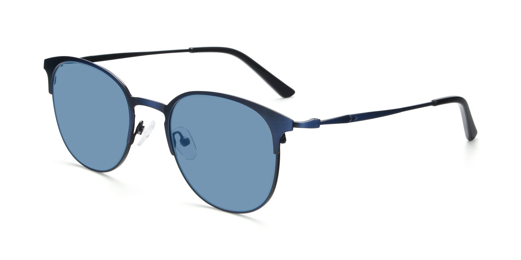 Angle of 9547 in Antique Blue with Medium Blue Tinted Lenses