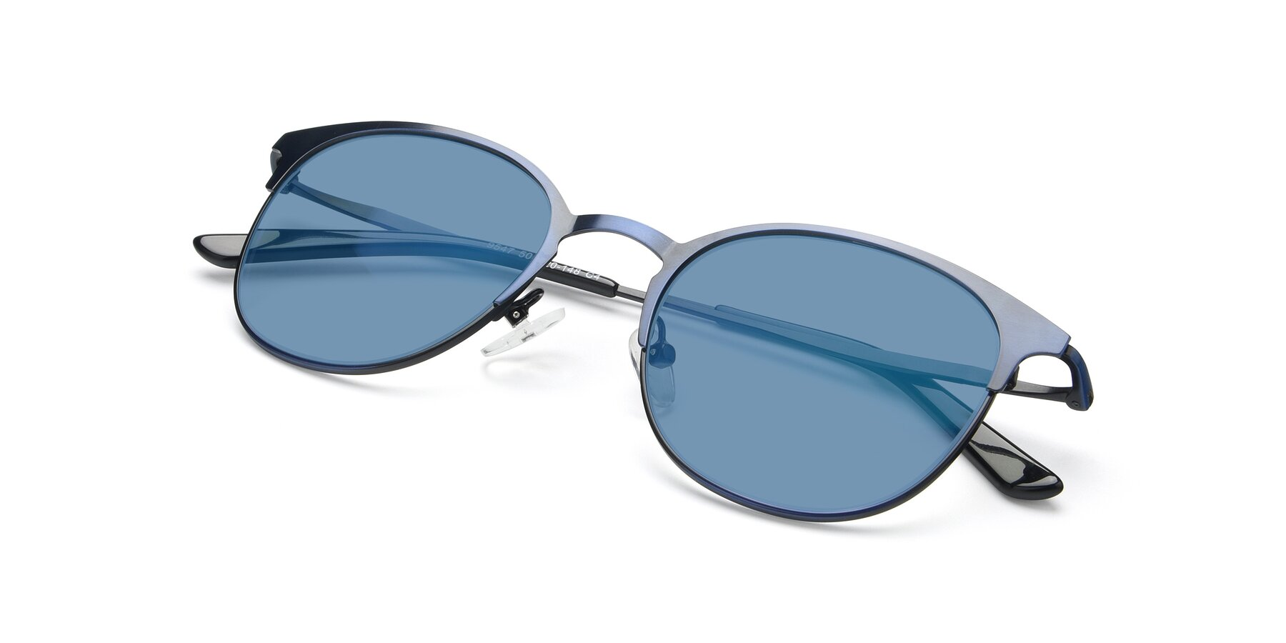 View of 9547 in Antique Blue with Medium Blue Tinted Lenses