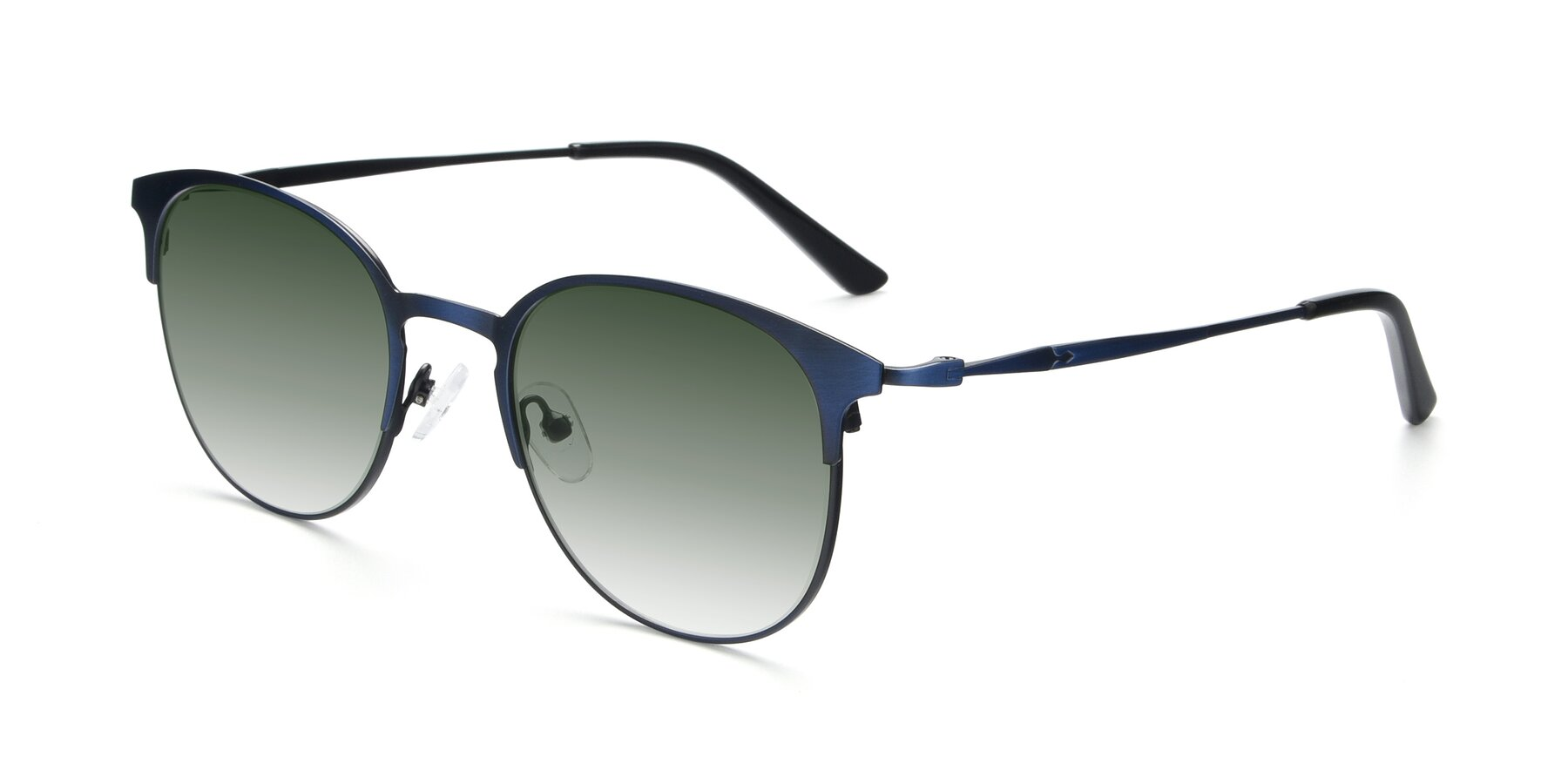 Angle of 9547 in Antique Blue with Green Gradient Lenses