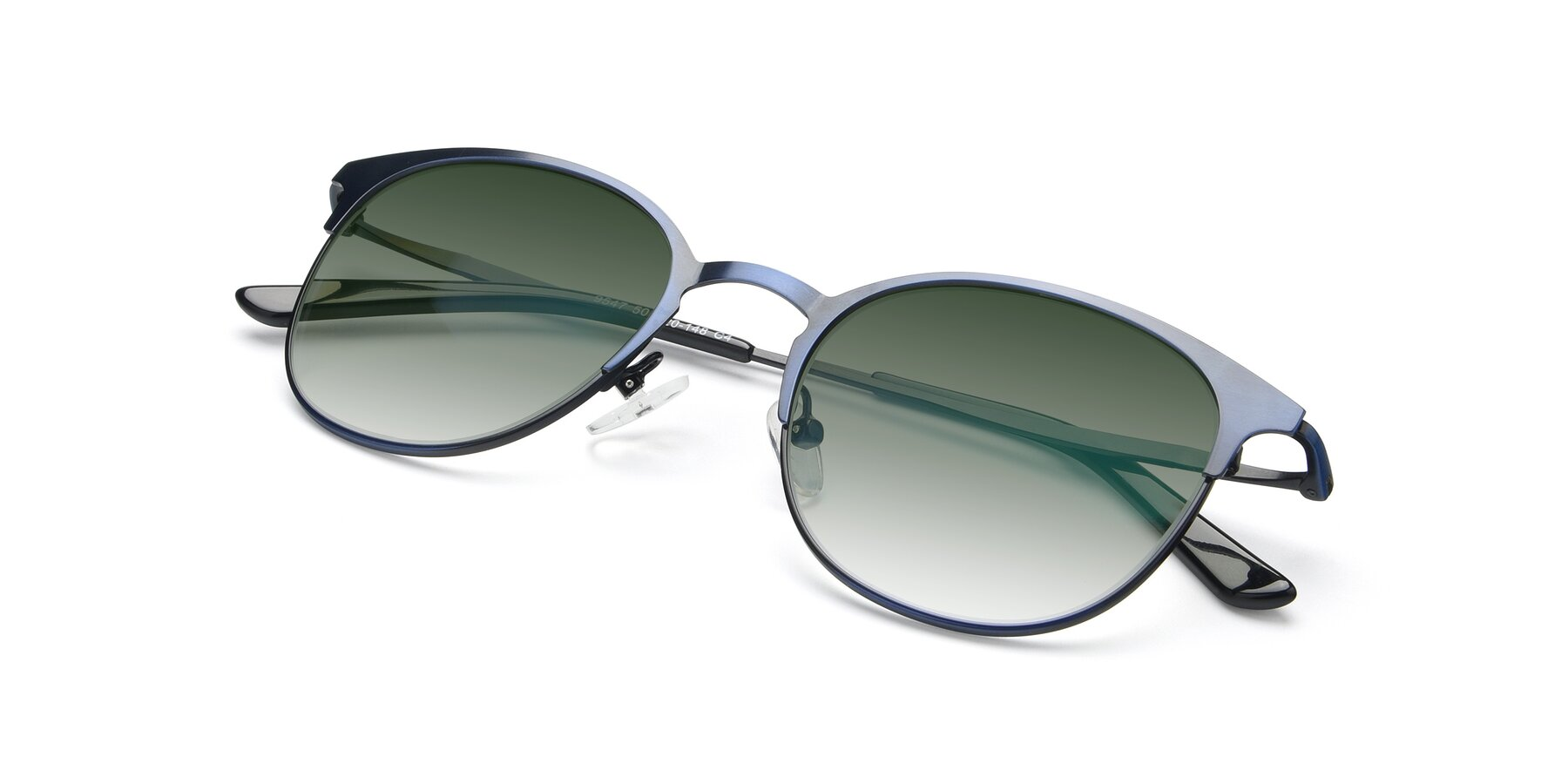 View of 9547 in Antique Blue with Green Gradient Lenses