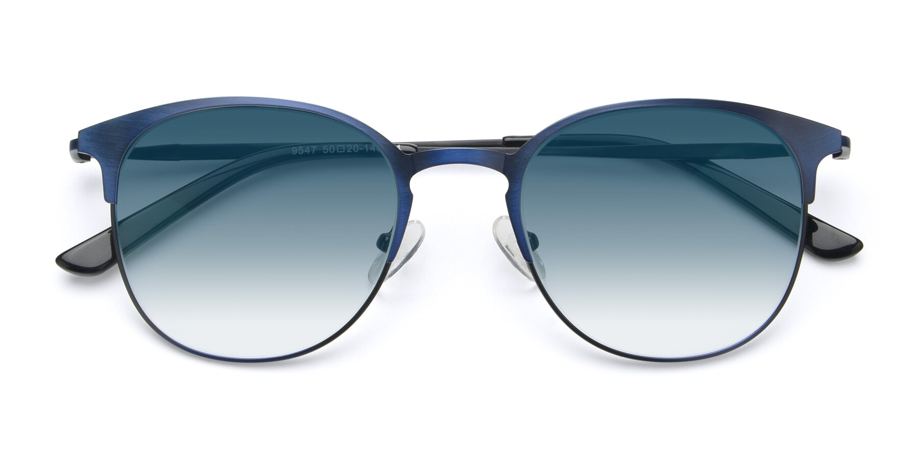 Folded Front of 9547 in Antique Blue with Blue Gradient Lenses