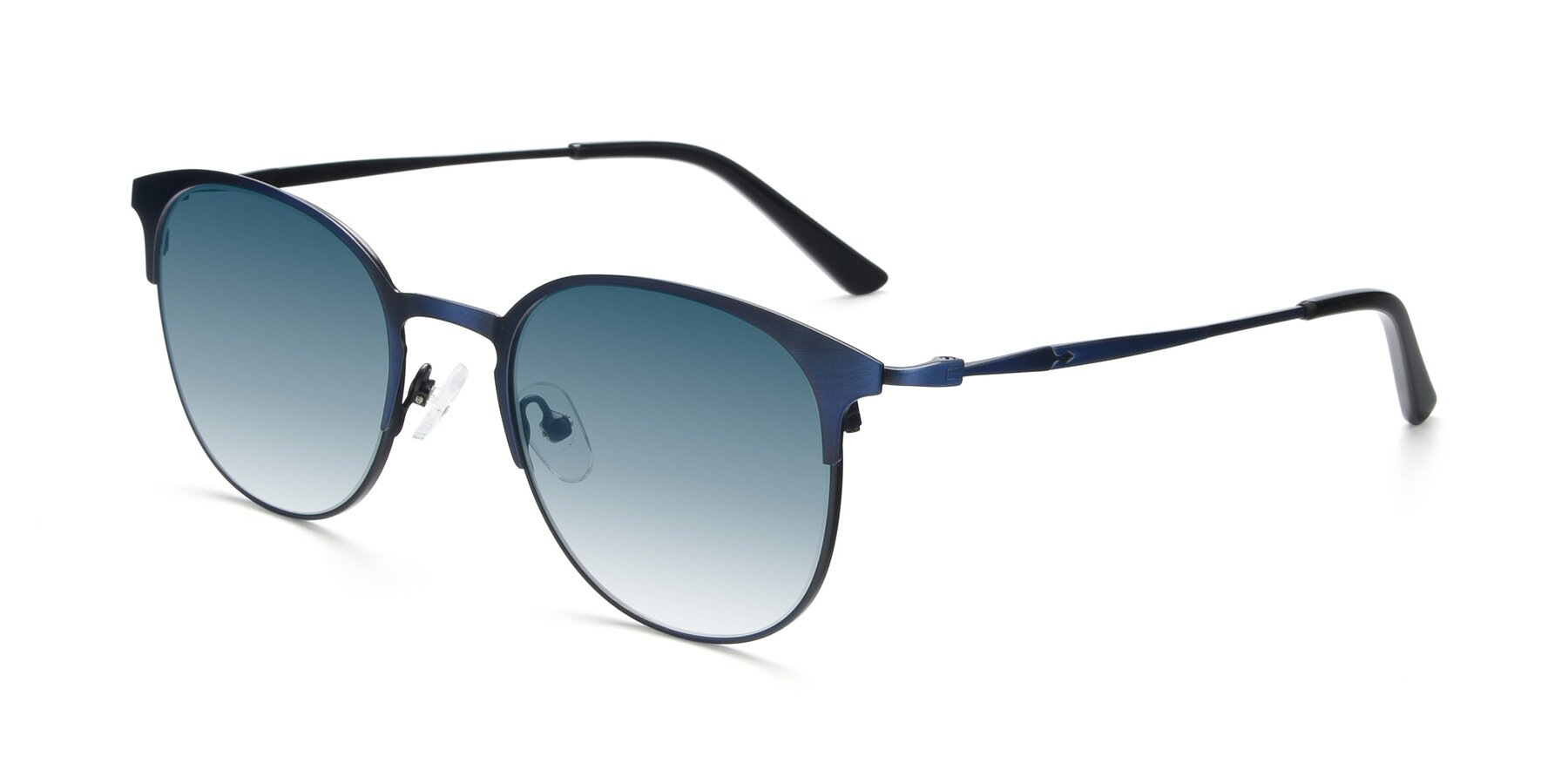 Angle of 9547 in Antique Blue with Blue Gradient Lenses