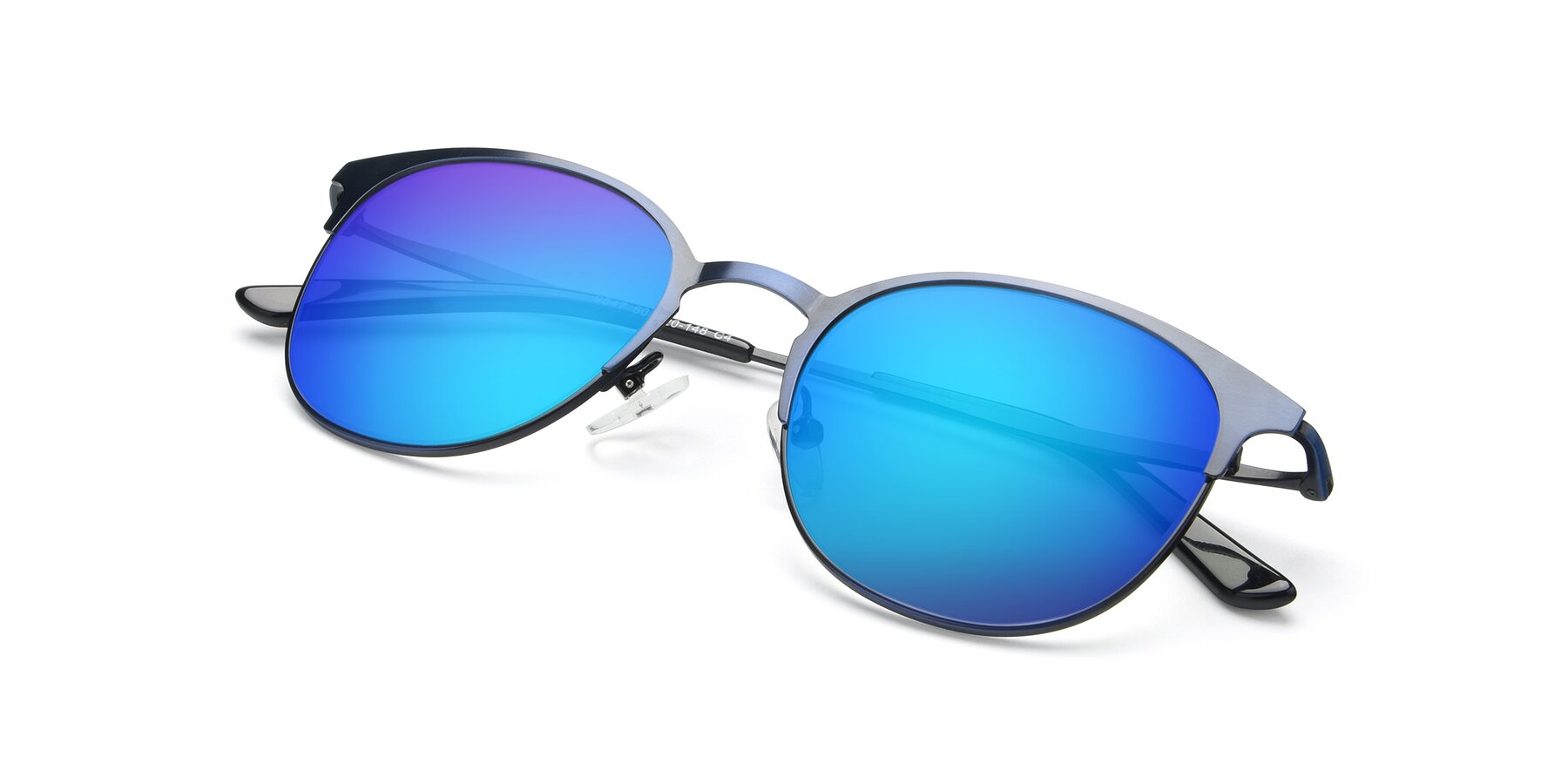 View of 9547 in Antique Blue with Blue Mirrored Lenses