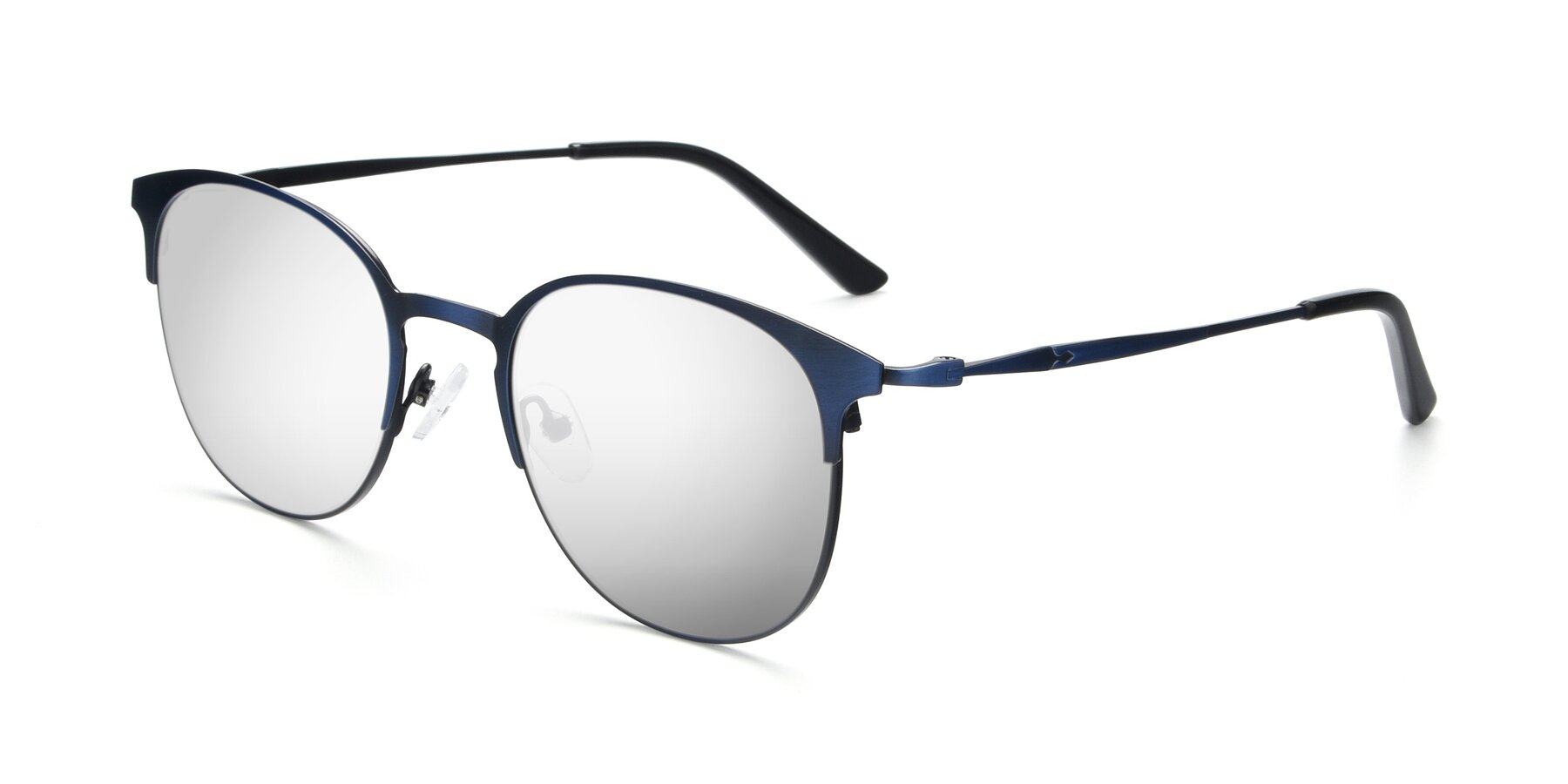 Angle of 9547 in Antique Blue with Silver Mirrored Lenses