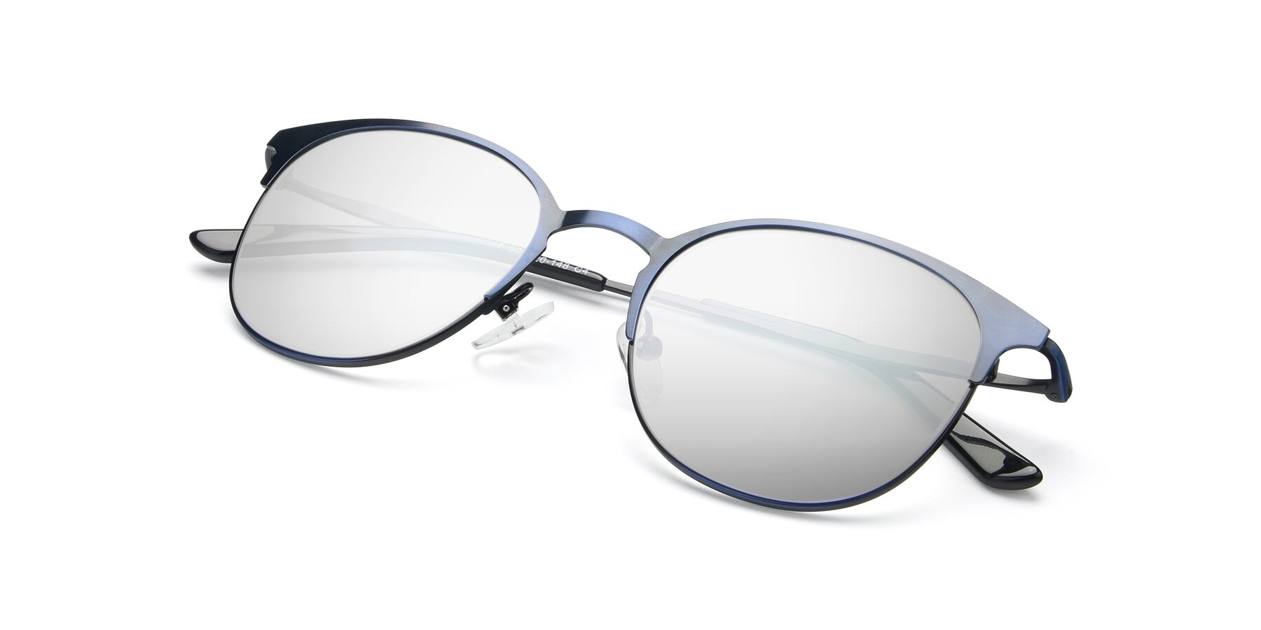 View of 9547 in Antique Blue with Silver Mirrored Lenses
