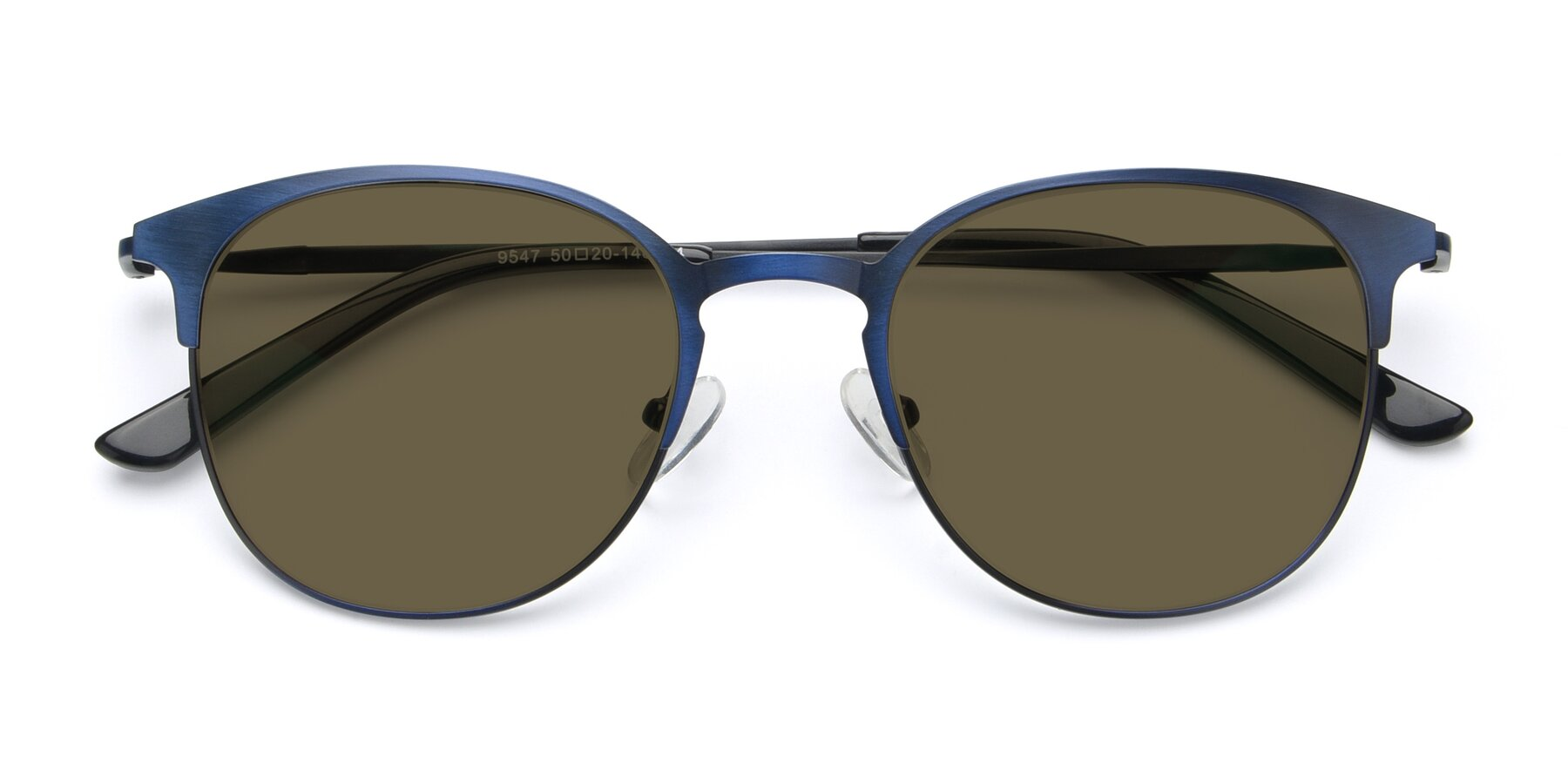 Folded Front of 9547 in Antique Blue with Brown Polarized Lenses