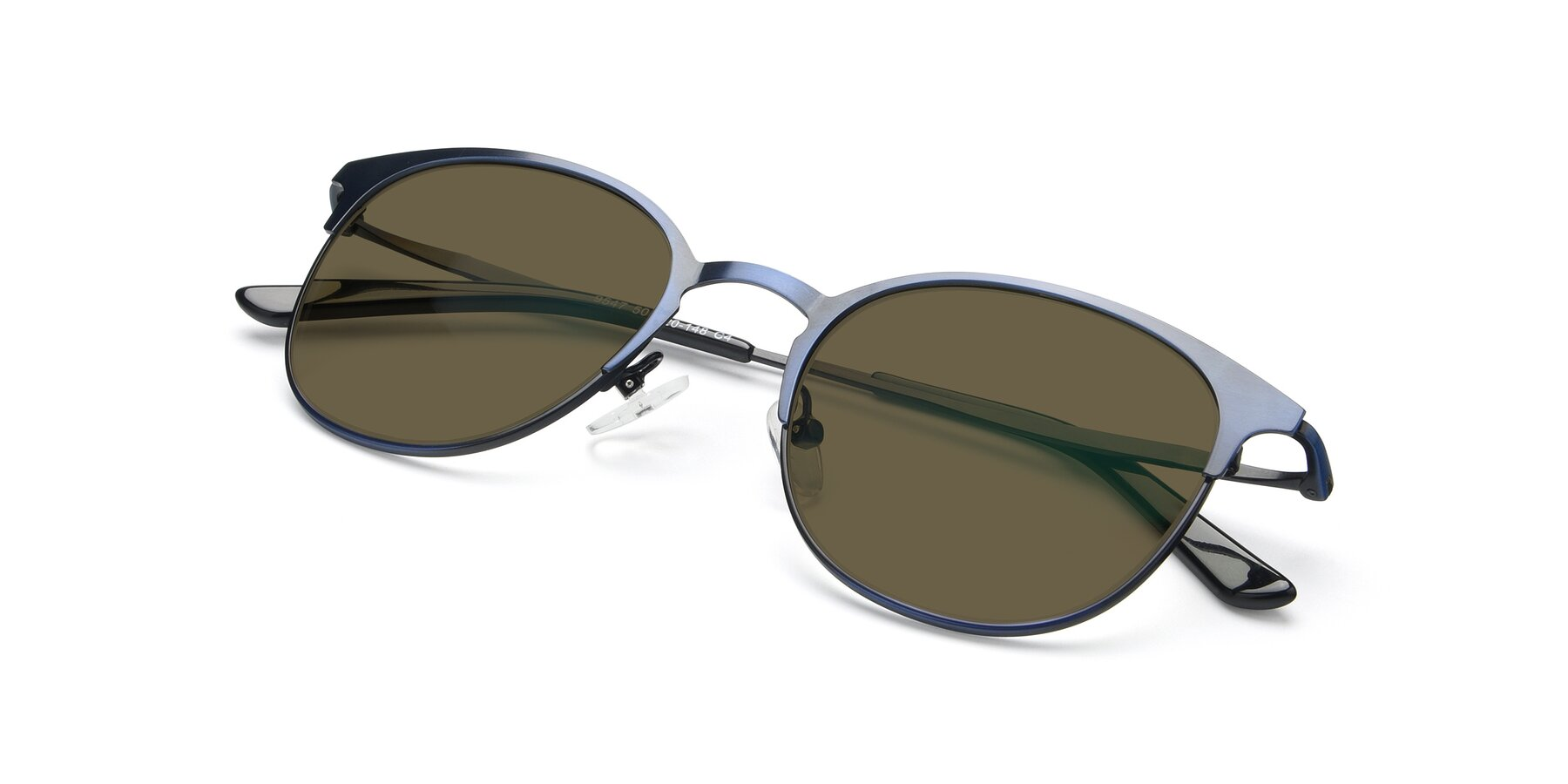 View of 9547 in Antique Blue with Brown Polarized Lenses